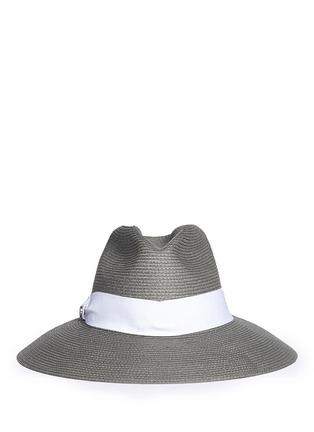 Main View - Click To Enlarge - Armani Collezioni - Contrast ribbon hat