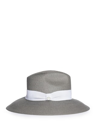 Figure View - Click To Enlarge - Armani Collezioni - Contrast ribbon hat