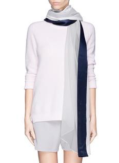 ARMANI COLLEZIONISatin trim silk chiffon scarf