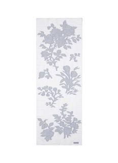 ARMANI COLLEZIONIFloral embroidery cotton-linen-silk scarf