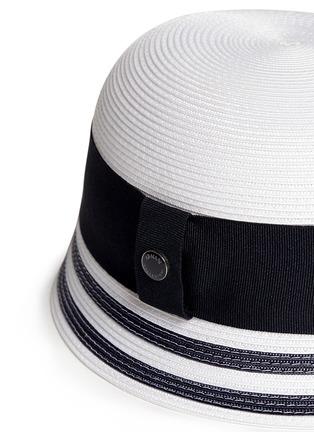 Detail View - Click To Enlarge - Armani Collezioni - Wide ribbon cloche hat