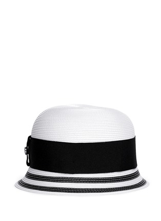 Main View - Click To Enlarge - Armani Collezioni - Wide ribbon cloche hat