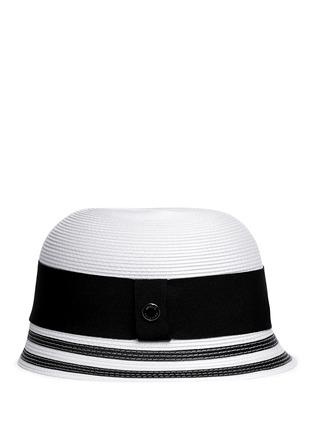 Figure View - Click To Enlarge - Armani Collezioni - Wide ribbon cloche hat