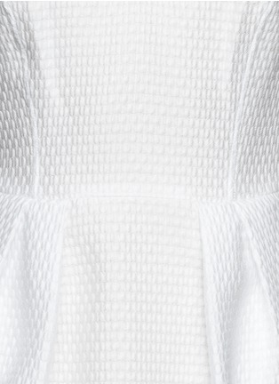 Detail View - Click To Enlarge - Armani Collezioni - Textured half circle sheath dress