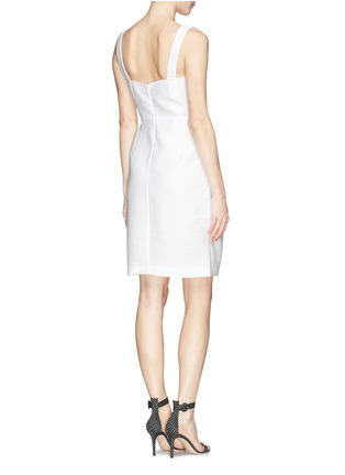 Back View - Click To Enlarge - Armani Collezioni - Textured half circle sheath dress