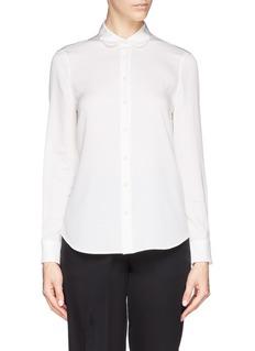 ARMANI COLLEZIONIPeter Pan collar charmeuse blouse
