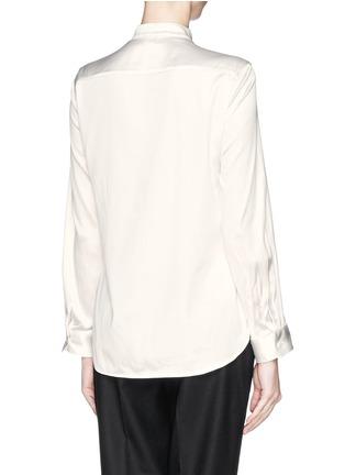 Back View - Click To Enlarge - Armani Collezioni - Pleat bib charmeuse blouse