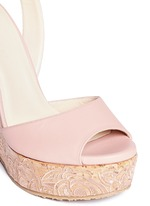 'Patara' cork wedge leather sandals