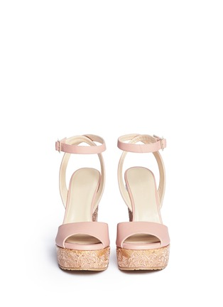Figure View - Click To Enlarge - Jimmy Choo - 'Patara' cork wedge leather sandals