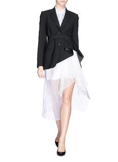 THEORY'Jester' drape blazer with belt