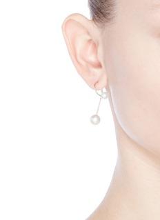 Sophie Bille Brahe'Elipse Nouveau' Akoya pearl 14k gold single earring