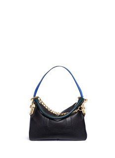 SacaiCoin purse pocket colourblock leather shoulder bag