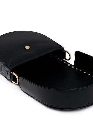 - Sacai - 'Horseshoe' suede fringe stud leather bag
