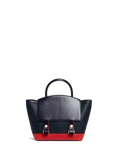 SacaiTwo-way colourblock leather tote