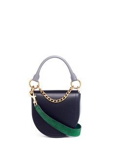 Sacai 'Horseshoe' suede strap leather saddle bag