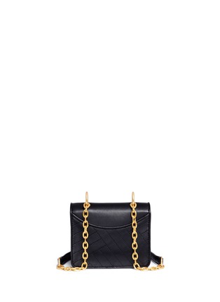 Detail View - Click To Enlarge - Tory Burch - Chevron quilted leather crossbody bag