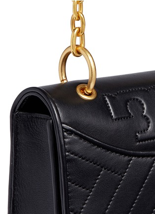 - Tory Burch - Chevron quilted leather crossbody bag