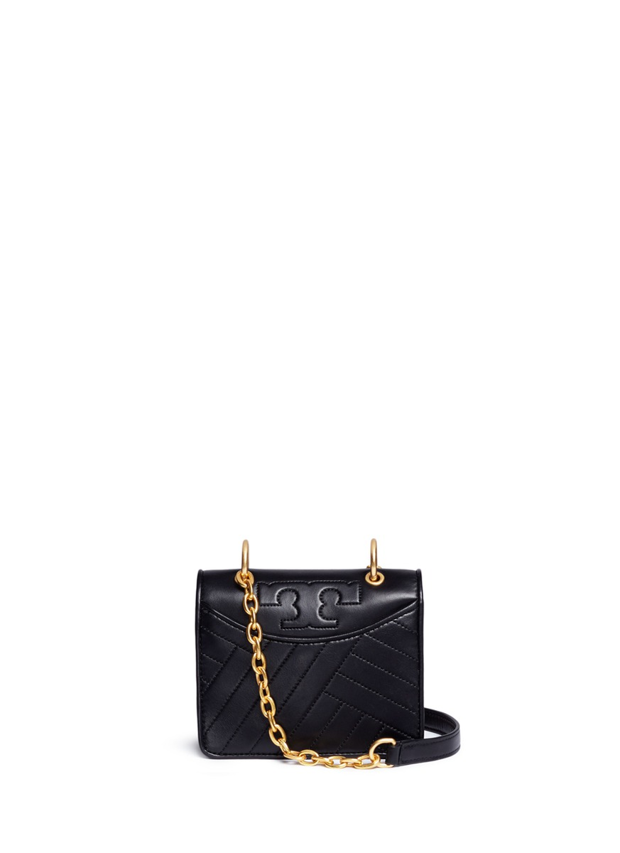 Chevron quilted leather crossbody bag by Tory Burch