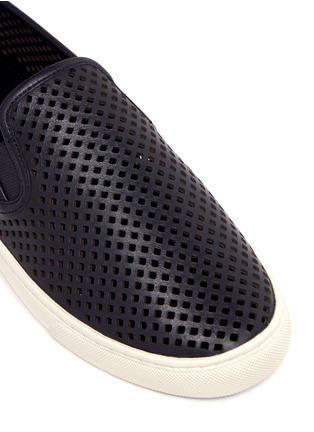 Detail View - Click To Enlarge - Tory Burch - 'Jesse' perforated leather slip-ons