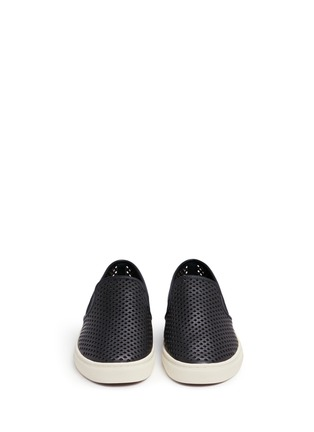 Front View - Click To Enlarge - Tory Burch - 'Jesse' perforated leather slip-ons