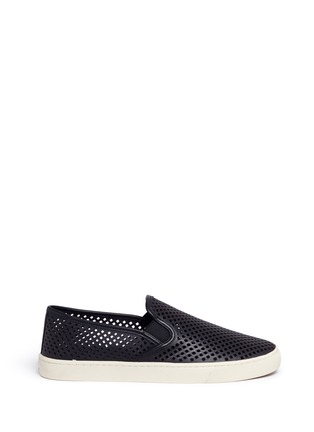 Main View - Click To Enlarge - Tory Burch - 'Jesse' perforated leather slip-ons