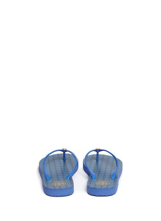 Back View - Click To Enlarge - Tory Burch - 'Thin' geometric print flip flops