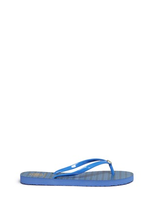 Main View - Click To Enlarge - Tory Burch - 'Thin' geometric print flip flops