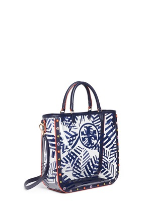 Detail View - Click To Enlarge - Tory Burch - 'Marguerite' palm leaf print plastic tote