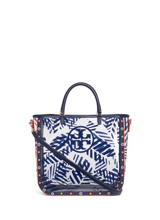 Main View - Click To Enlarge - Tory Burch - 'Marguerite' palm leaf print plastic tote