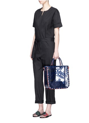 Figure View - Click To Enlarge - Tory Burch - 'Marguerite' palm leaf print plastic tote