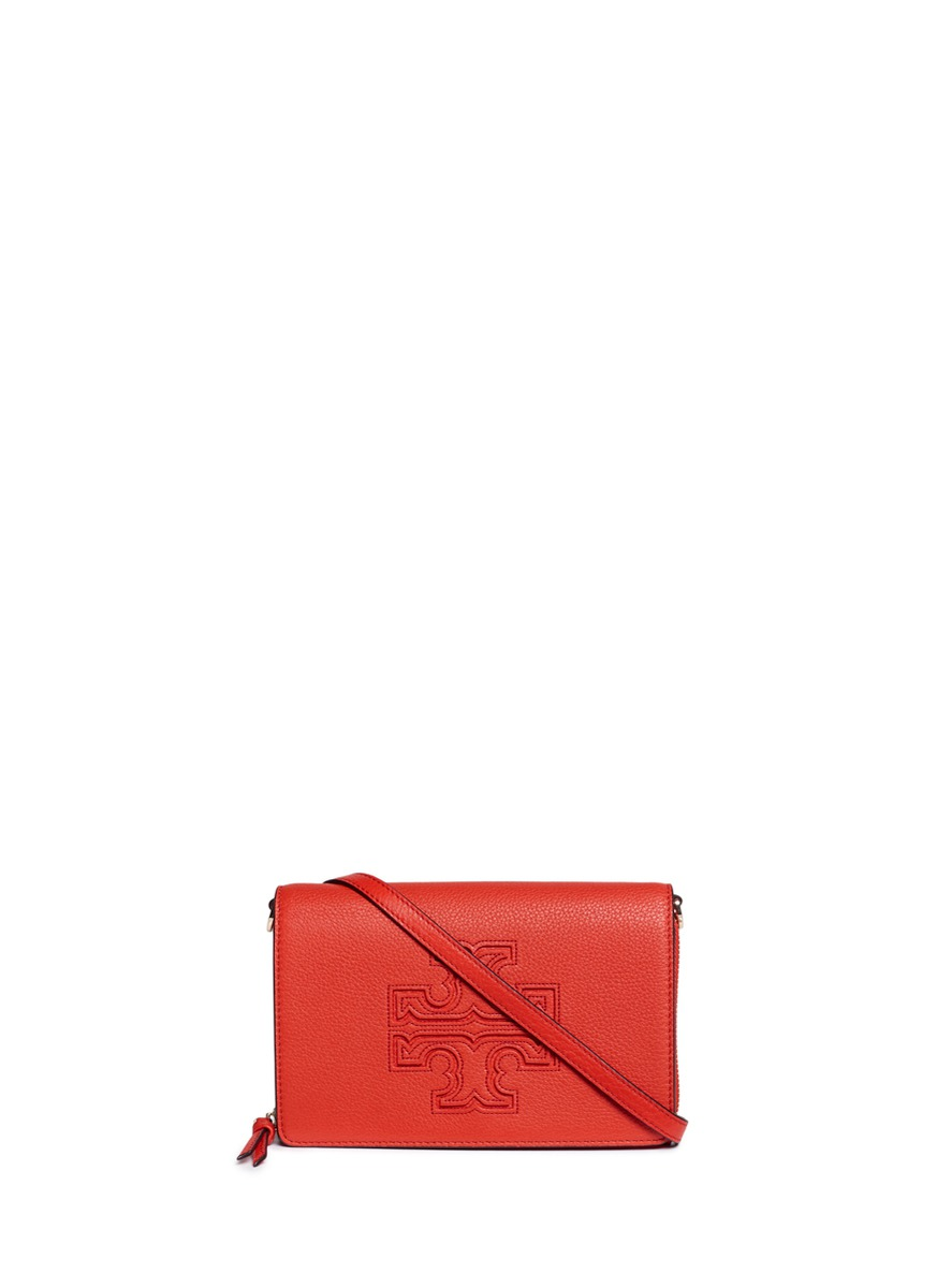 Harper leather crossbody wallet by Tory Burch