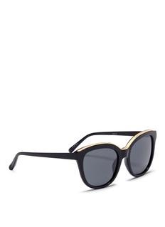 NO. 21 oversize不锈钢点缀板材太阳眼镜