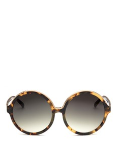 NO.21 Oversized tortoiseshell round gradient sunglasses