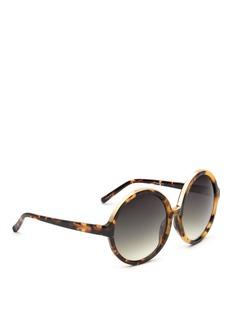 NO.21Oversized tortoiseshell round gradient sunglasses