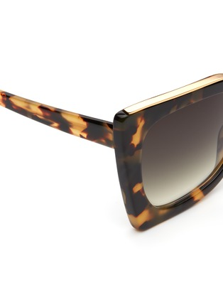 Detail View - Click To Enlarge - NO.21 - Oversized metal brow tortoiseshell cat eye gradient sunglasses