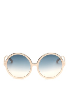 NO. 21oversize板材圆框太阳眼镜