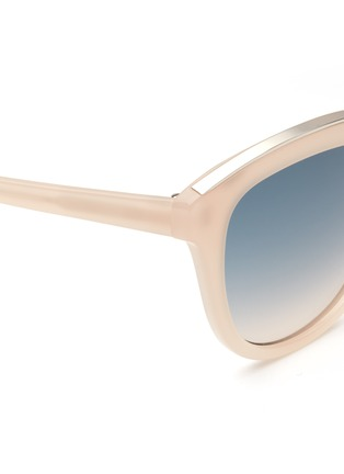 Detail View - Click To Enlarge - NO.21 - Metal brow acetate square gradient sunglasses