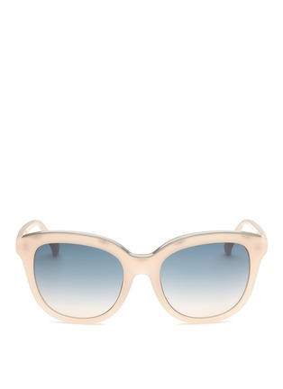 Main View - Click To Enlarge - NO.21 - Metal brow acetate square gradient sunglasses