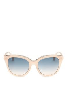 NO.21Metal brow acetate square gradient sunglasses