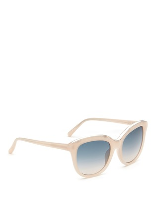 Figure View - Click To Enlarge - NO.21 - Metal brow acetate square gradient sunglasses