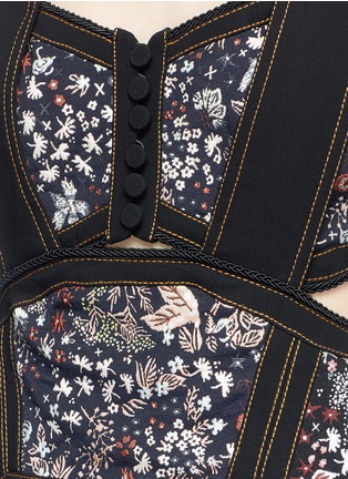 Detail View - Click To Enlarge - self-portrait - Pleated floral jacquard mini dress