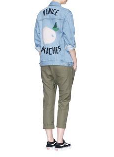 Etre Cecile 'Venice Peaches' oversized patch denim jacket