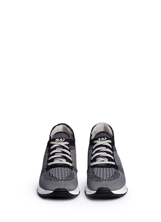 Front View - Click To Enlarge - Ash - 'Lucky' mixed knit sneakers