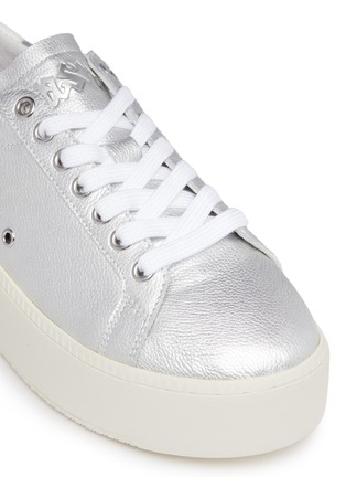 Detail View - Click To Enlarge - Ash - Cyber' star stud metallic leather platform sneakers