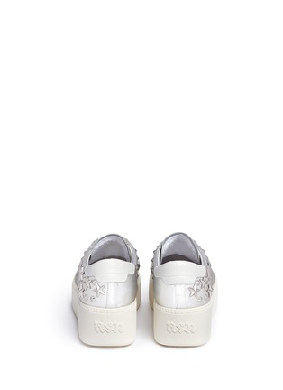 Back View - Click To Enlarge - Ash - Cyber' star stud metallic leather platform sneakers
