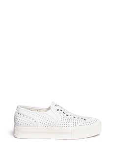 Ash 'Kingston' perforated leather flatform slip-ons