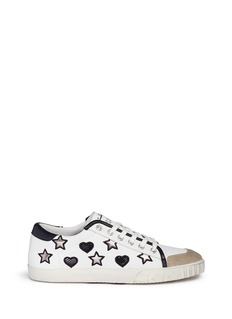 Ash 'Magic' star and heart appliqué leather sneakers