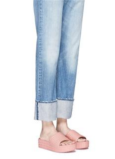 Ash'Scream' prism foam rubber platform slide sandals
