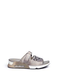 Ash'Lou' embellished satin sneaker slide sandals