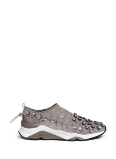 Ash 'Miss Lace' floral embellished lace sneakers